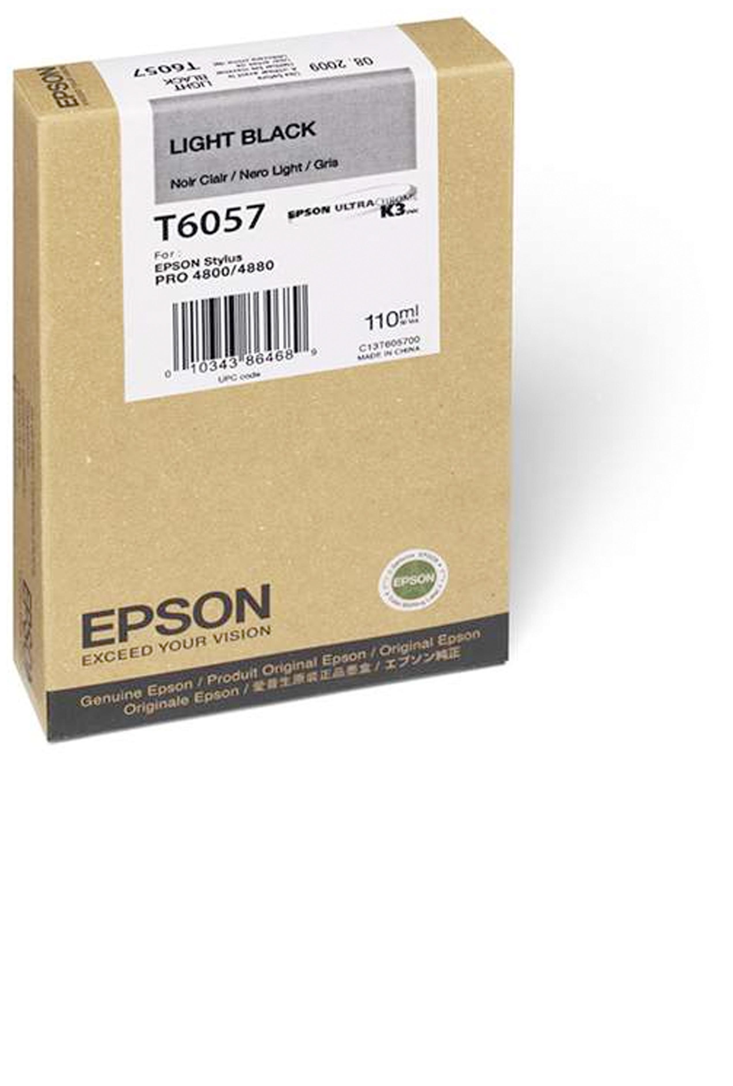 Epson EPSON SD LT BLACK INK (110 ML) (T605700)