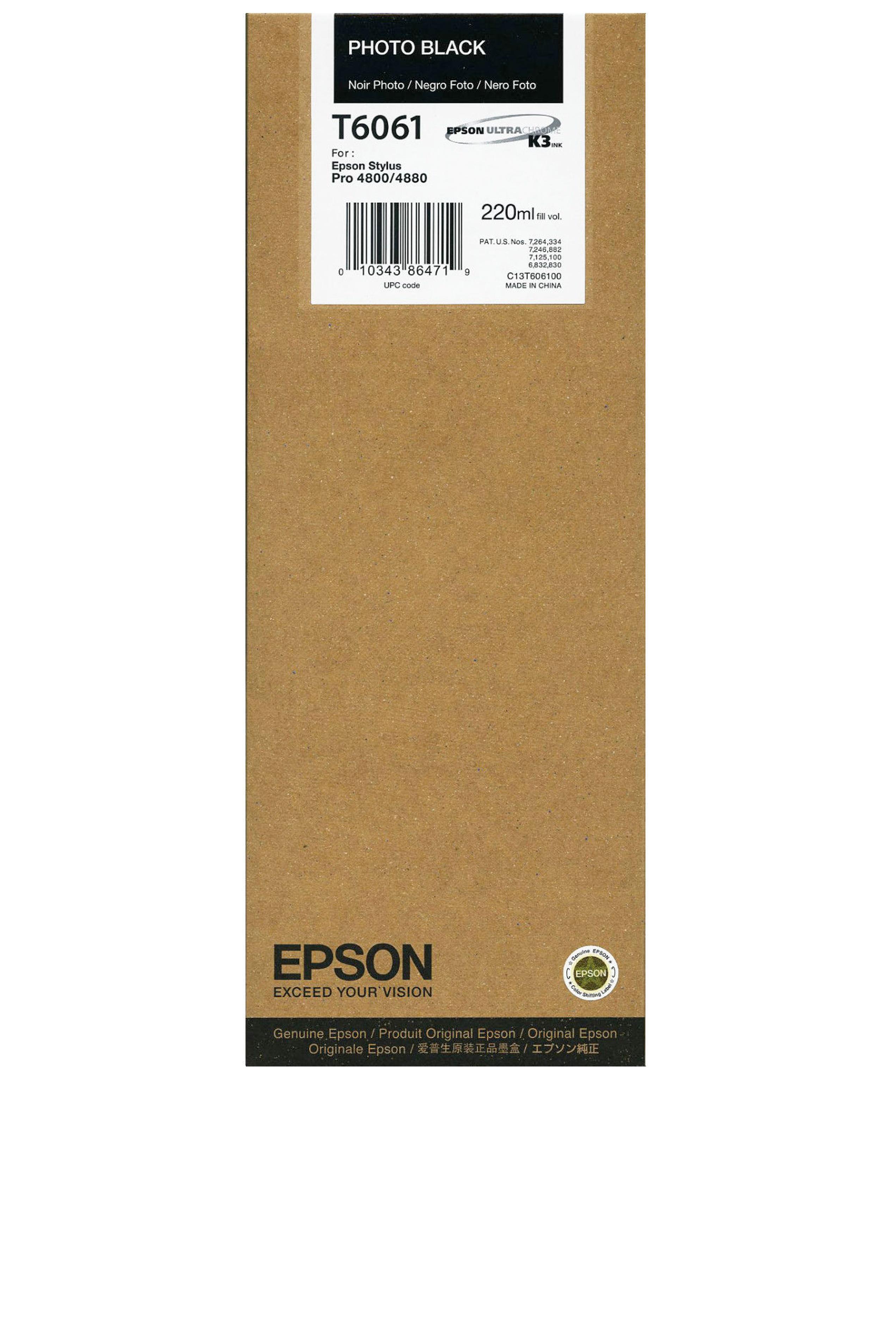 Epson EPSON HI PHOTO BLACK INK (220 ML) (T606100)