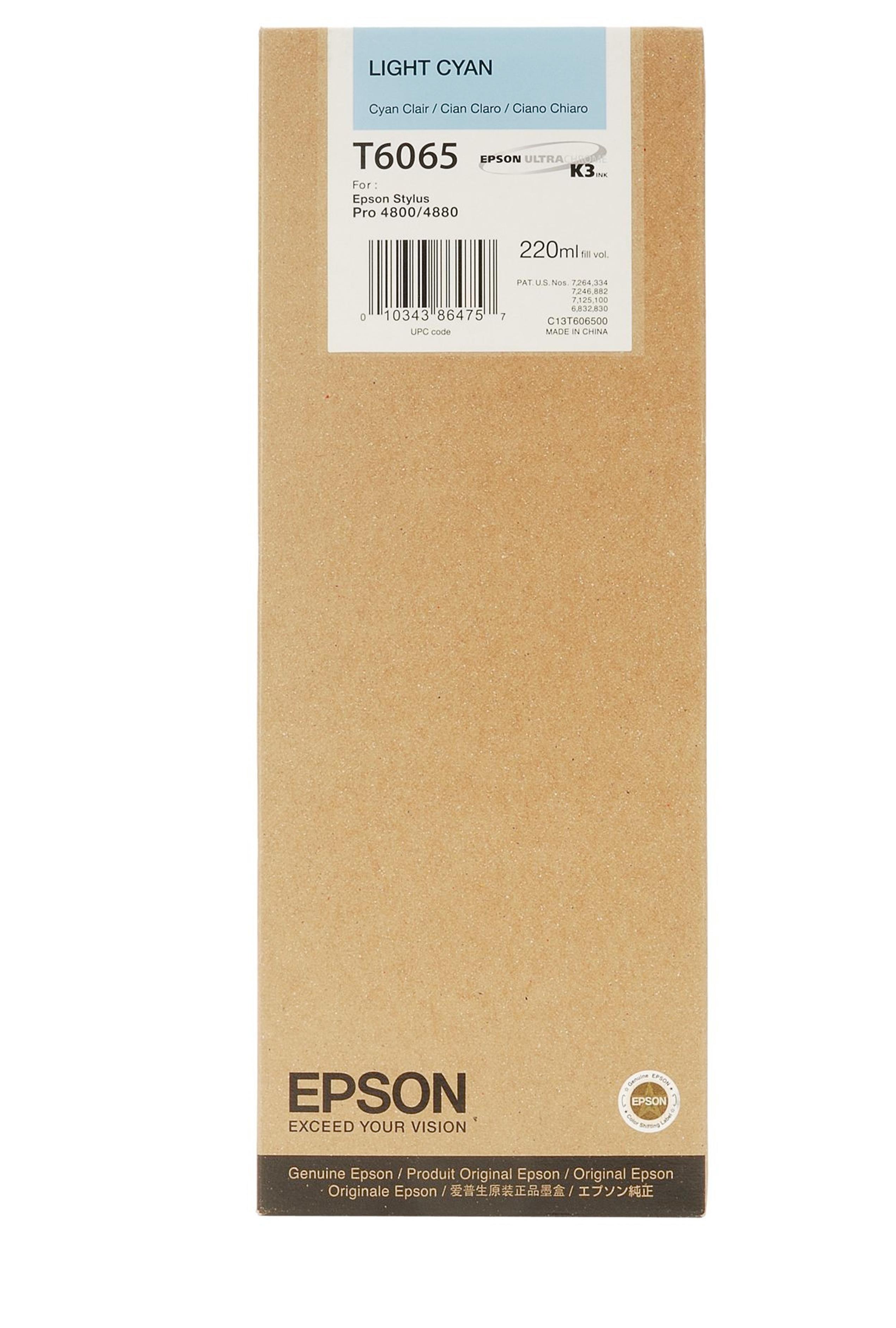 Epson EPSON HI LT CYAN INK (220 ML) (T606500)