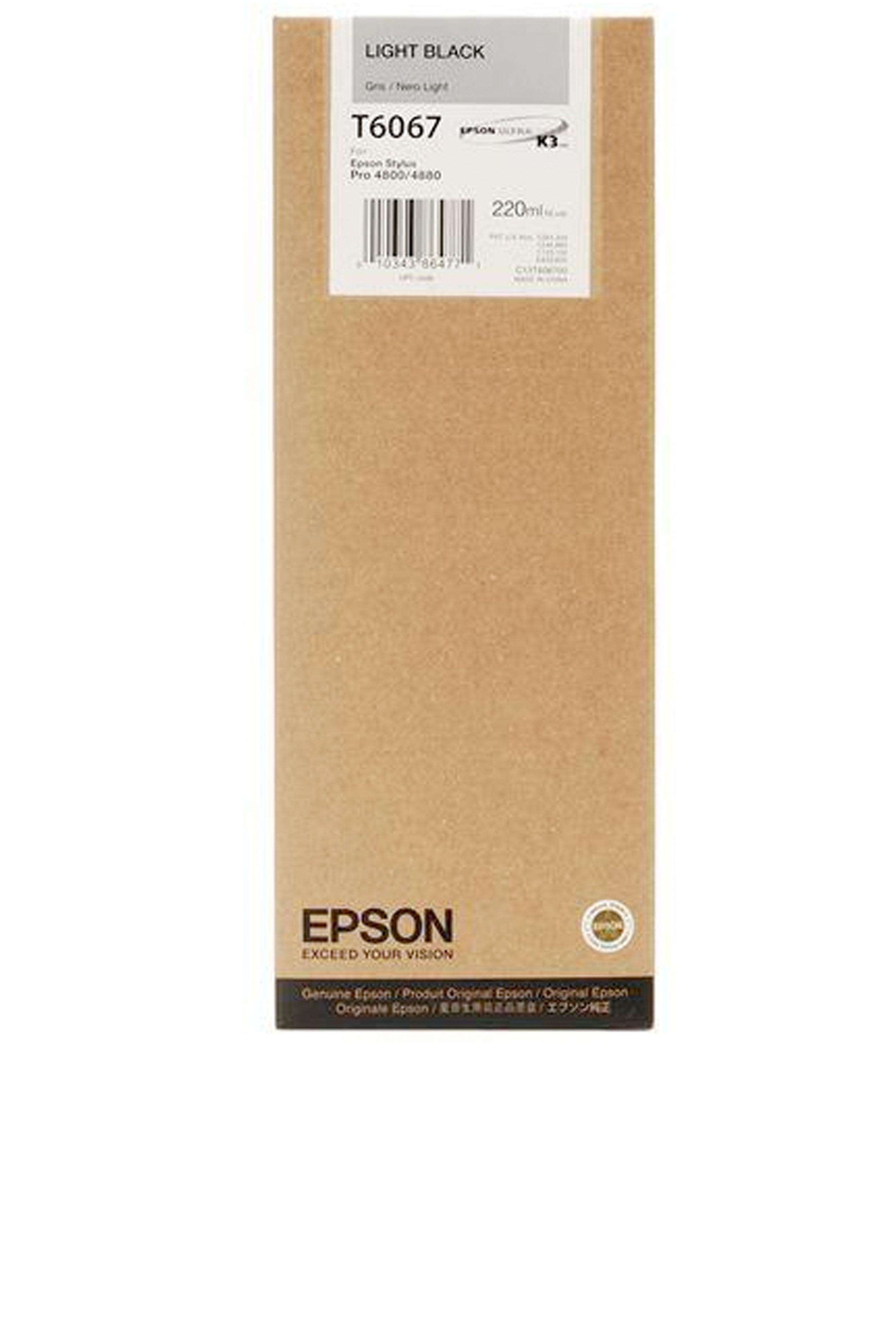 Epson EPSON HI LT BLACK INK (220 ML) (T606700)
