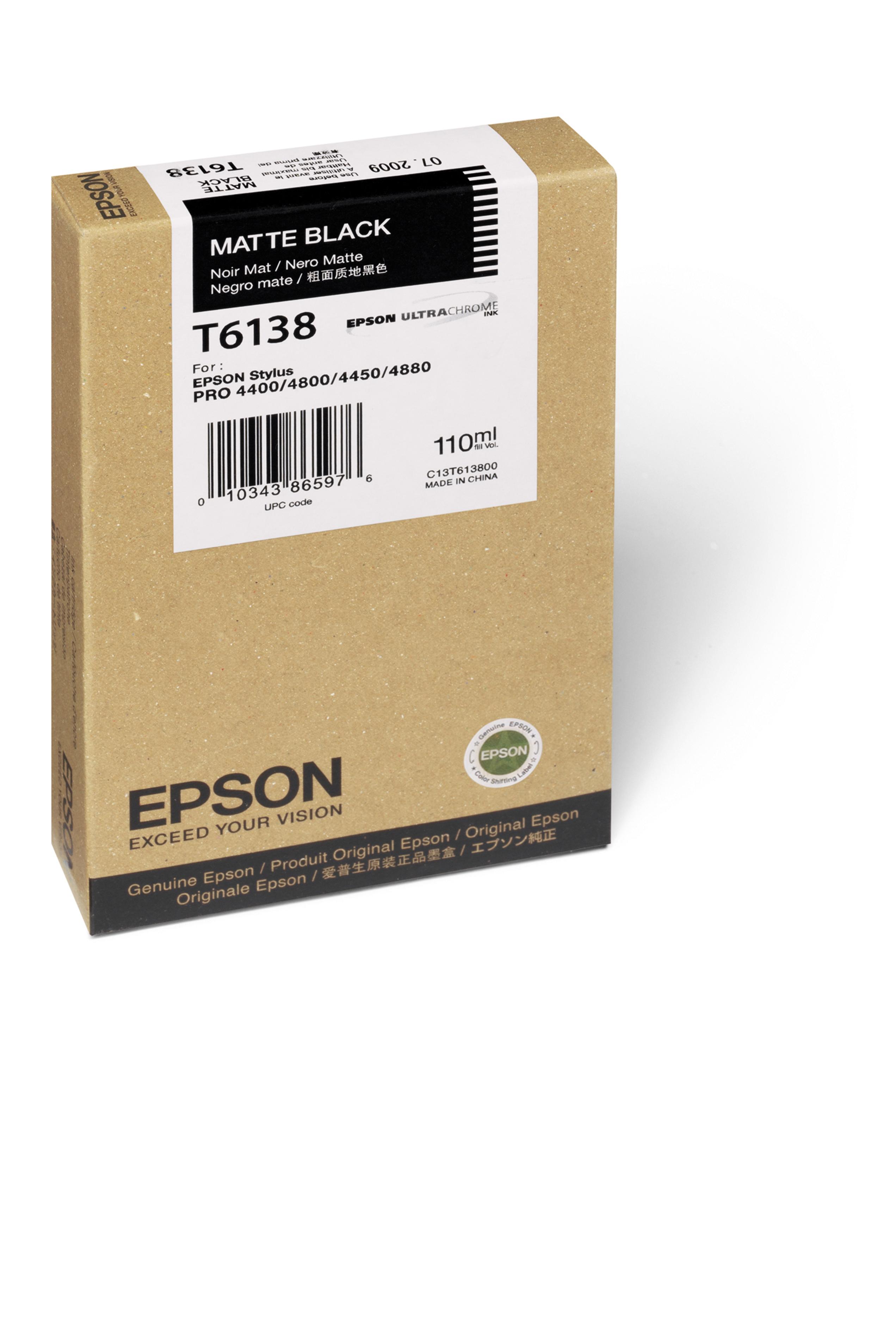 Epson EPSON SD MATTE BLACK INK (110 ML) (T613800)