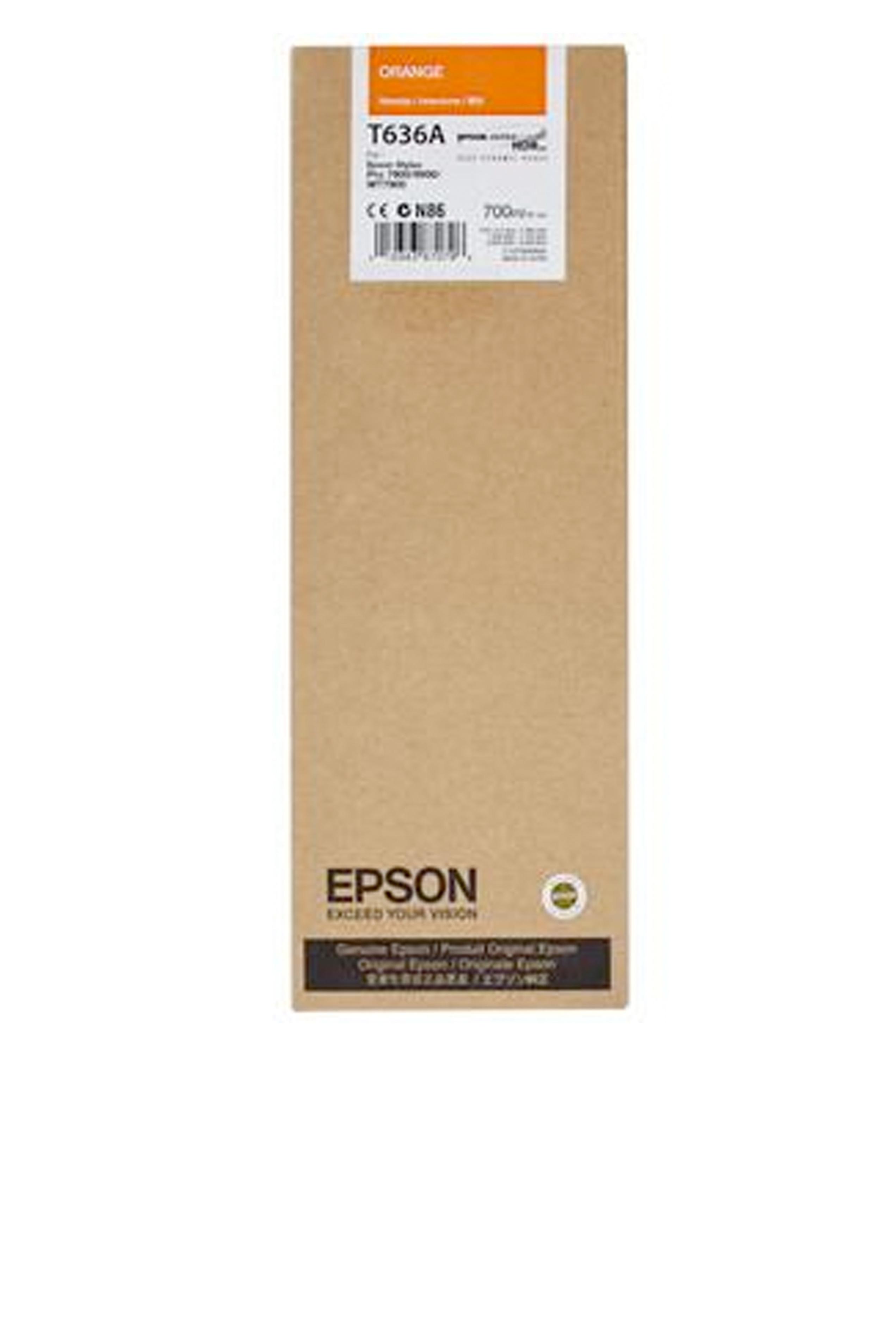 Epson EPSON HI ORANGE INK (700 ML) (T636A00)