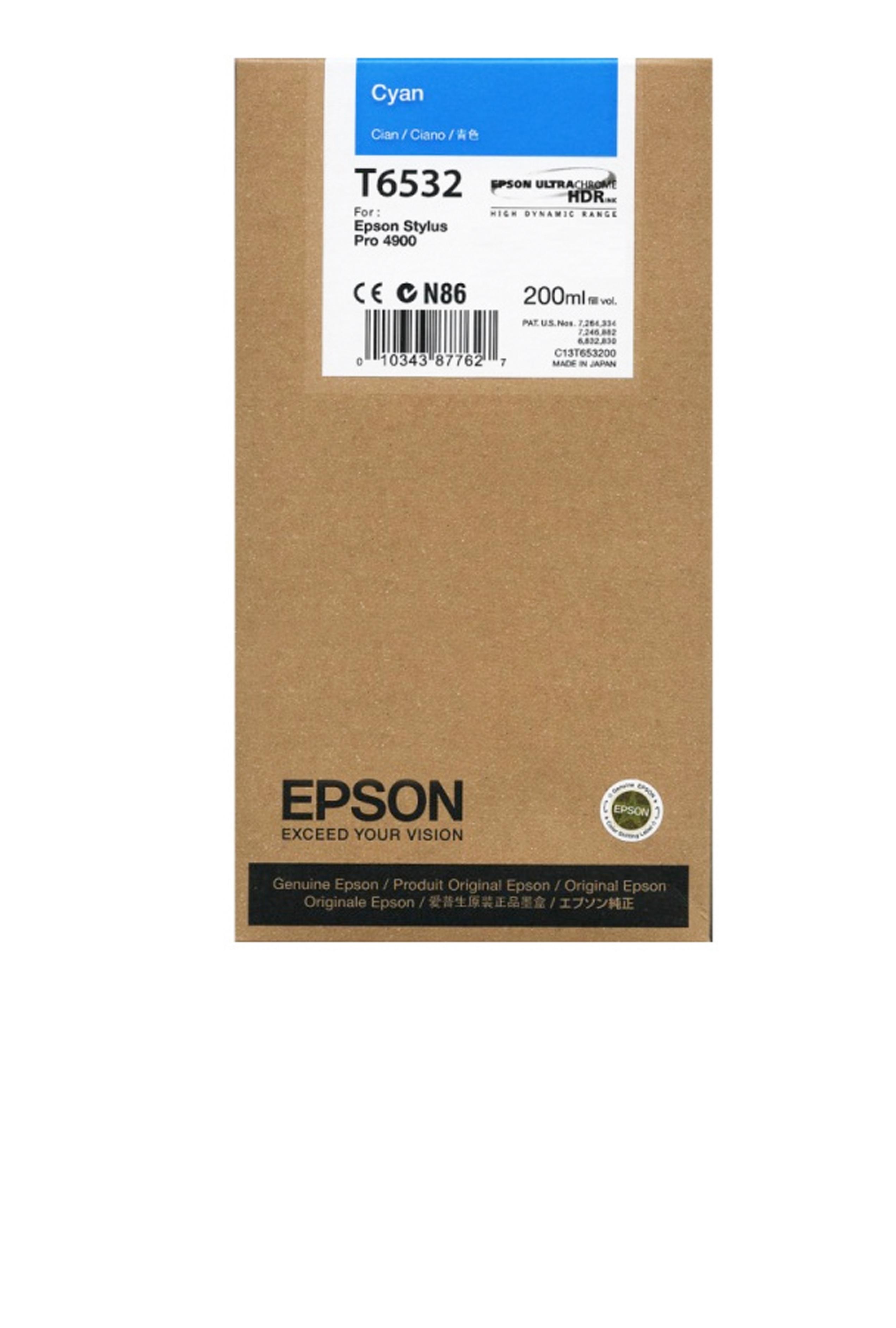 Epson EPSON SD CYAN INK (200 ML) (T653200)