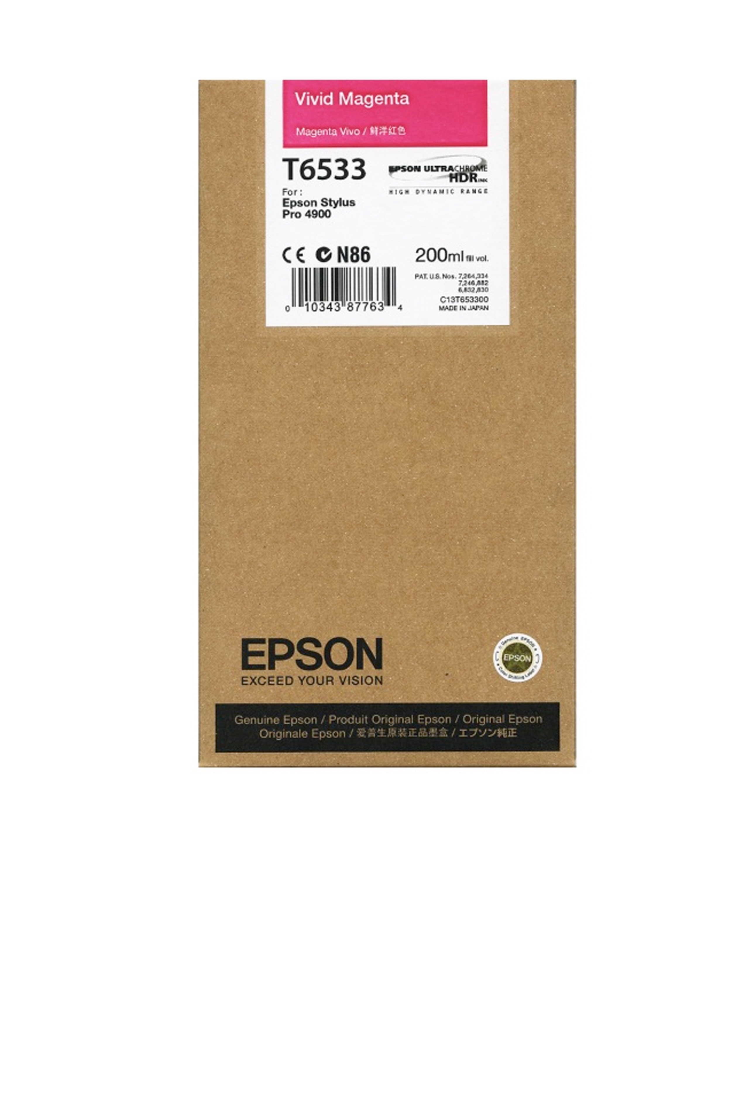 Epson EPSON SD VIVID MAGENTA INK (200 ML) (T653300)