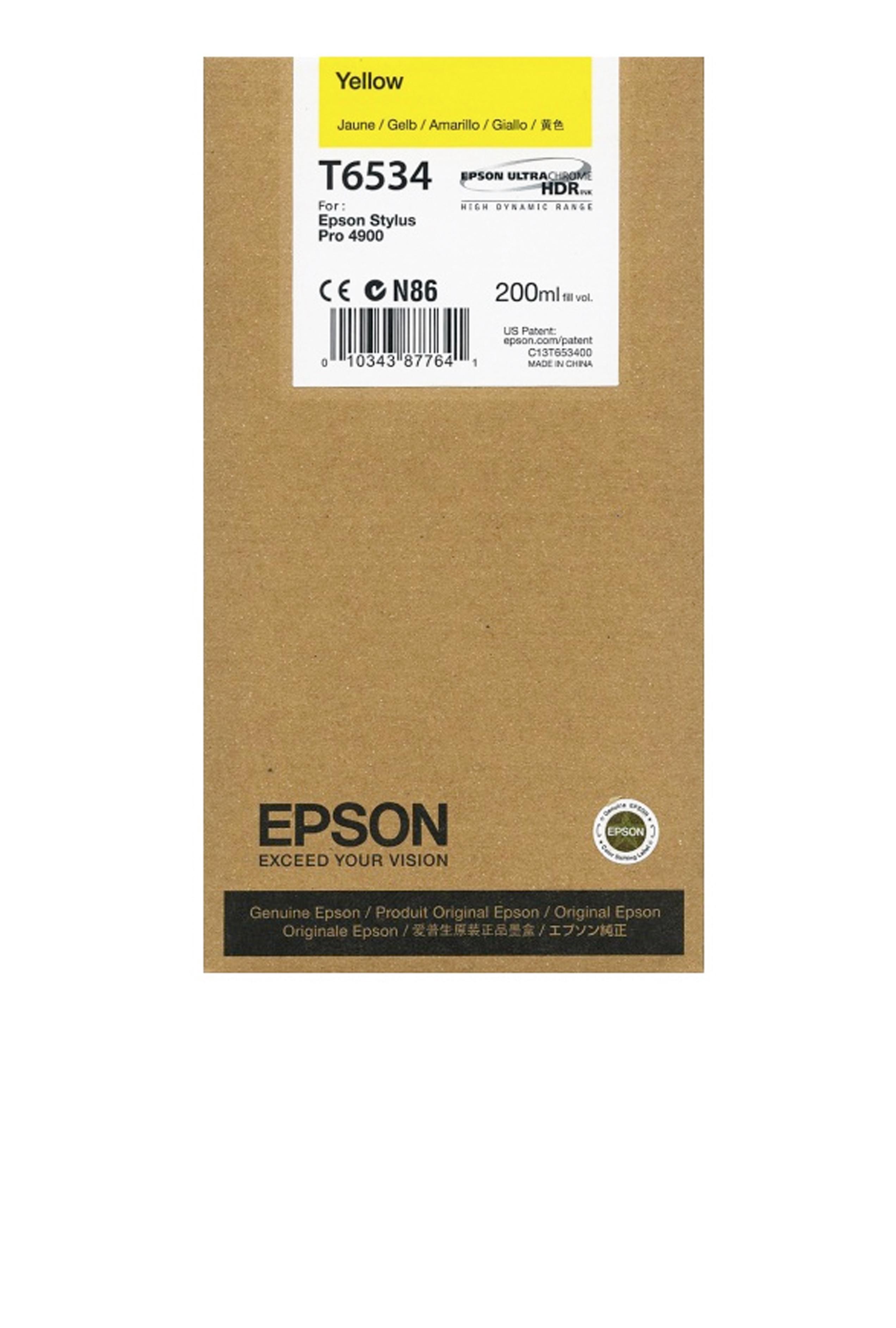 Epson EPSON SD YELLOW INK (200 ML) (T653400)