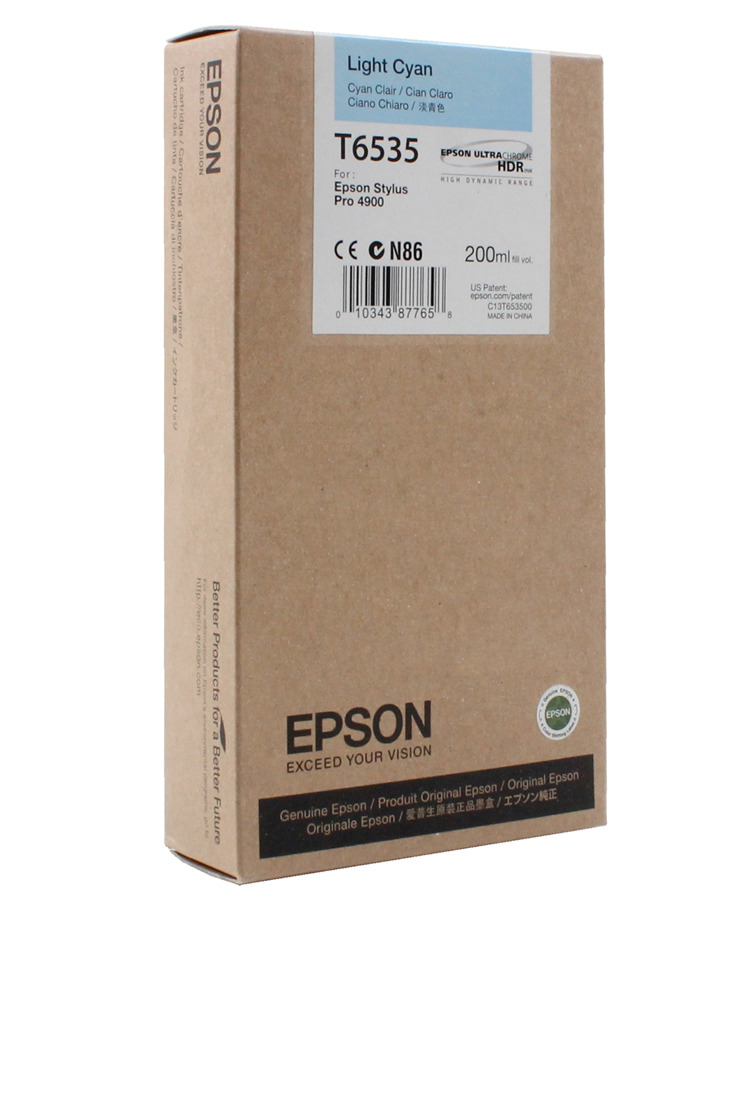 Epson EPSON SD LT CYAN INK (200 ML) (T653500)