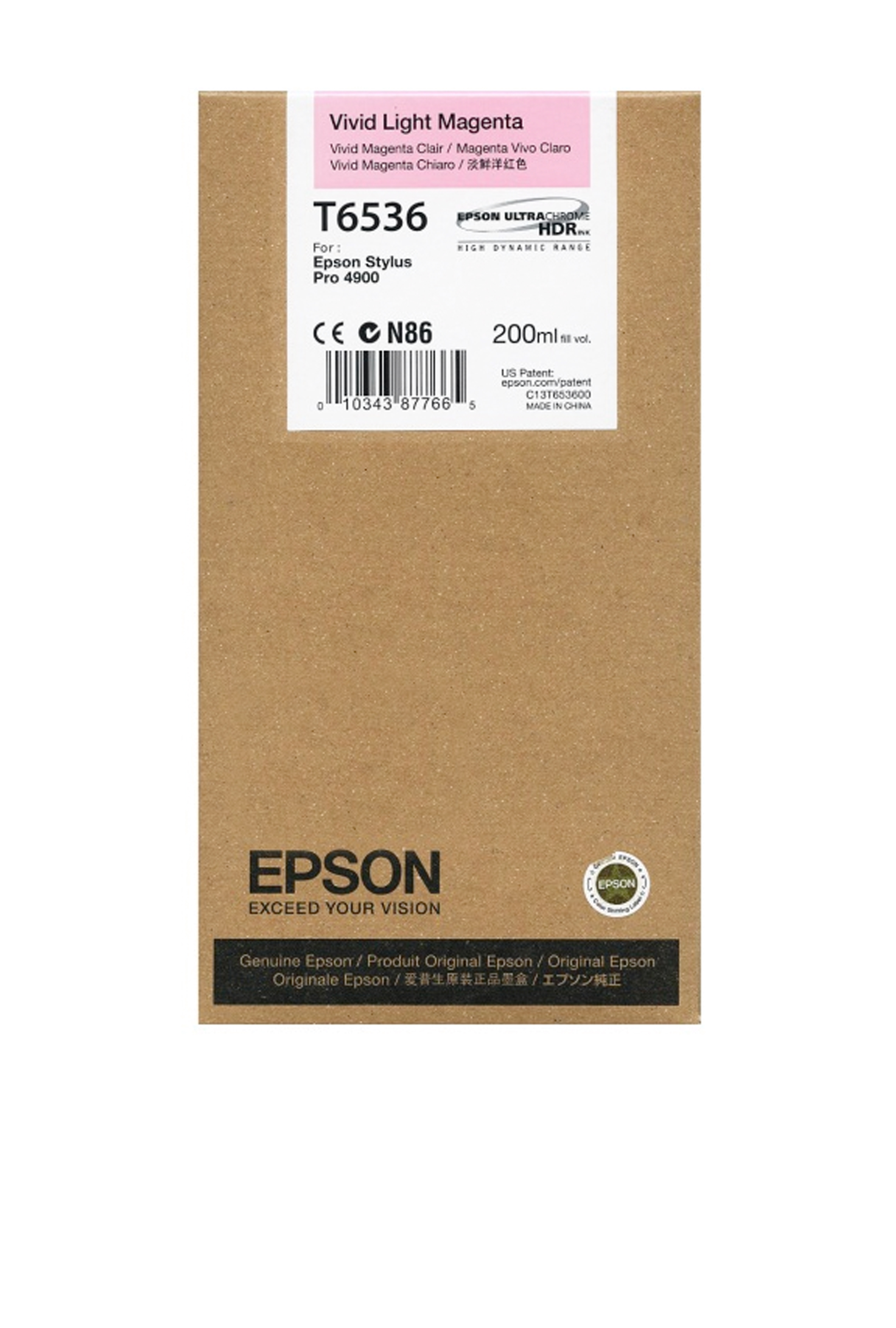 Epson EPSON SD VIVID LT MAGENTA (200 ML) (T653600)
