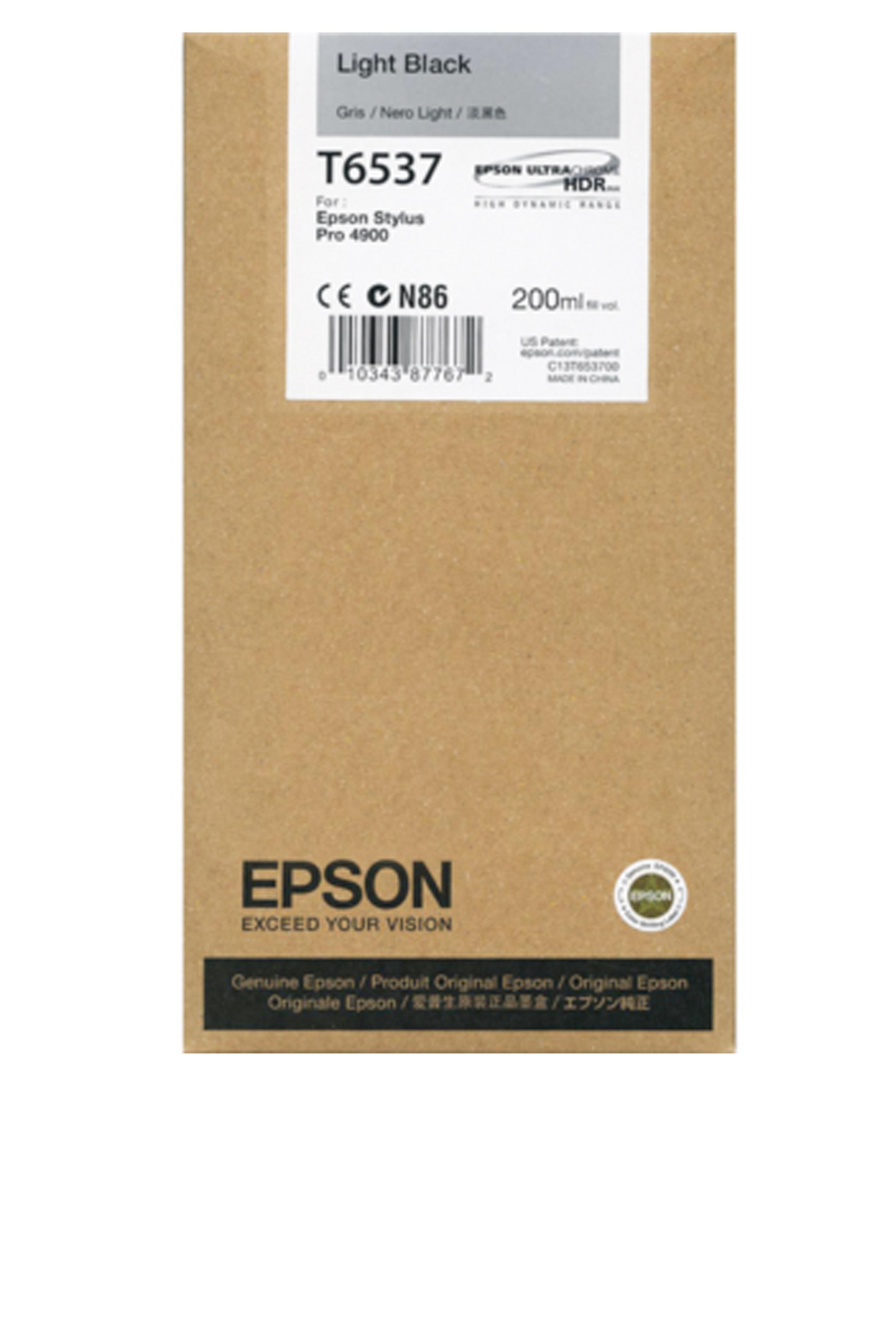 Epson EPSON SD LIGHT BLACK INK (200 ML) (T653700)
