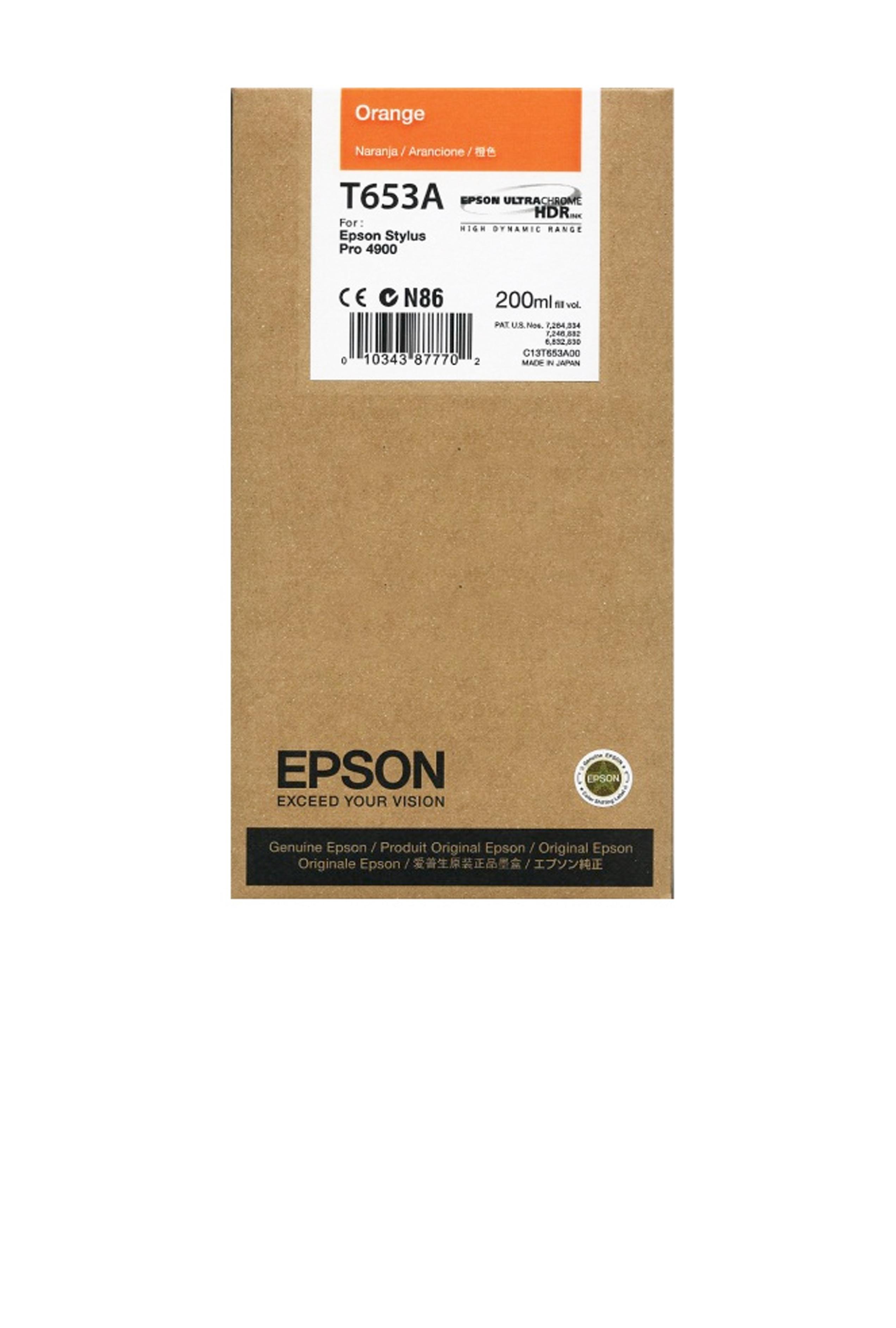 Epson EPSON SD ORANGE INK (200 ML) (T653A00)