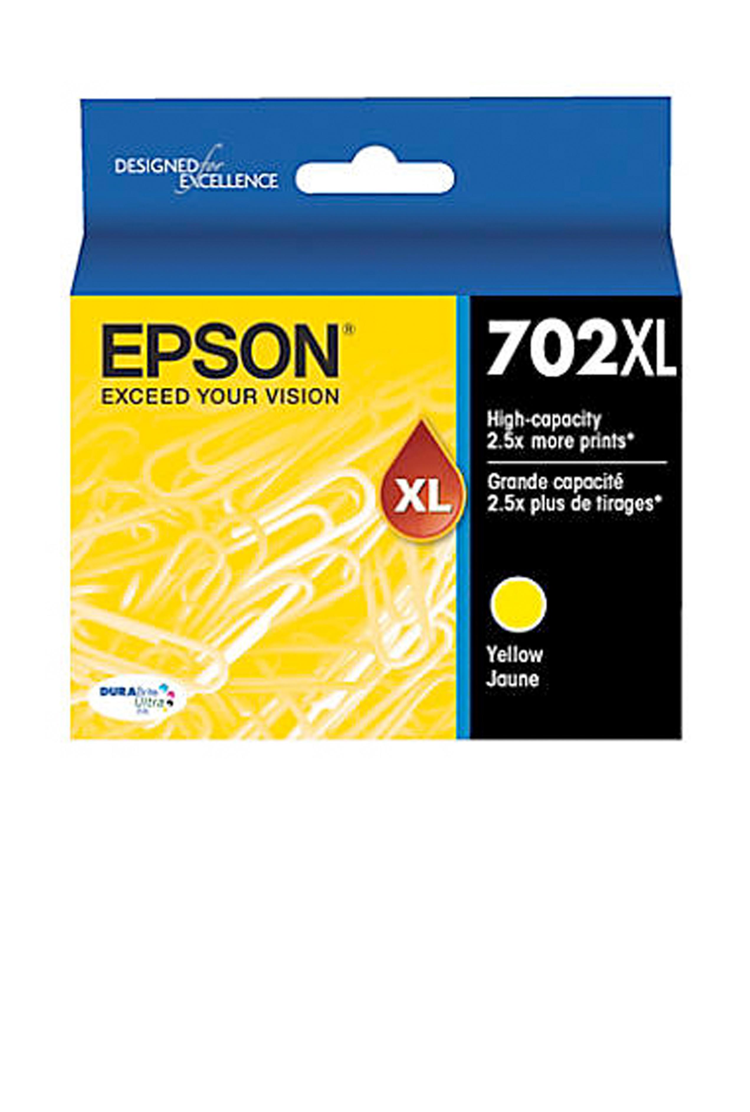 Epson T702XL, Yellow Ink Cartridge, High-capacity (T702XL420-S)