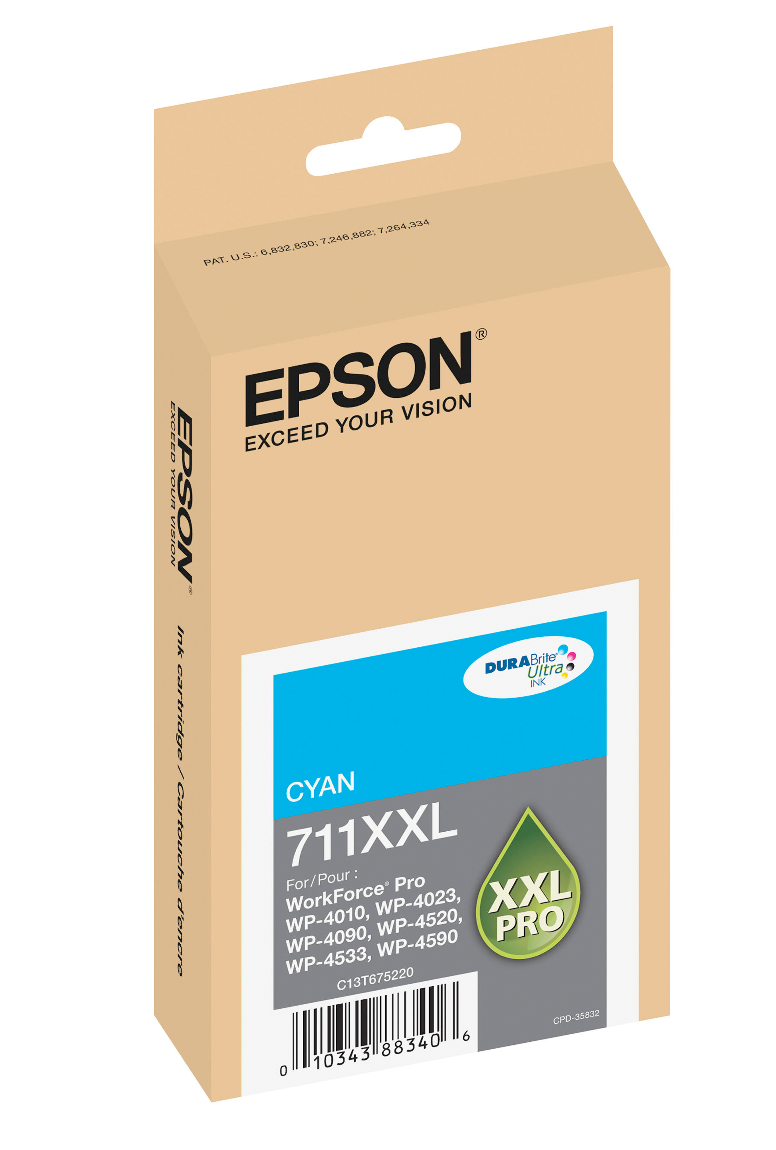 Epson EPSON XH CYAN INK (3400) (T711XXL220)