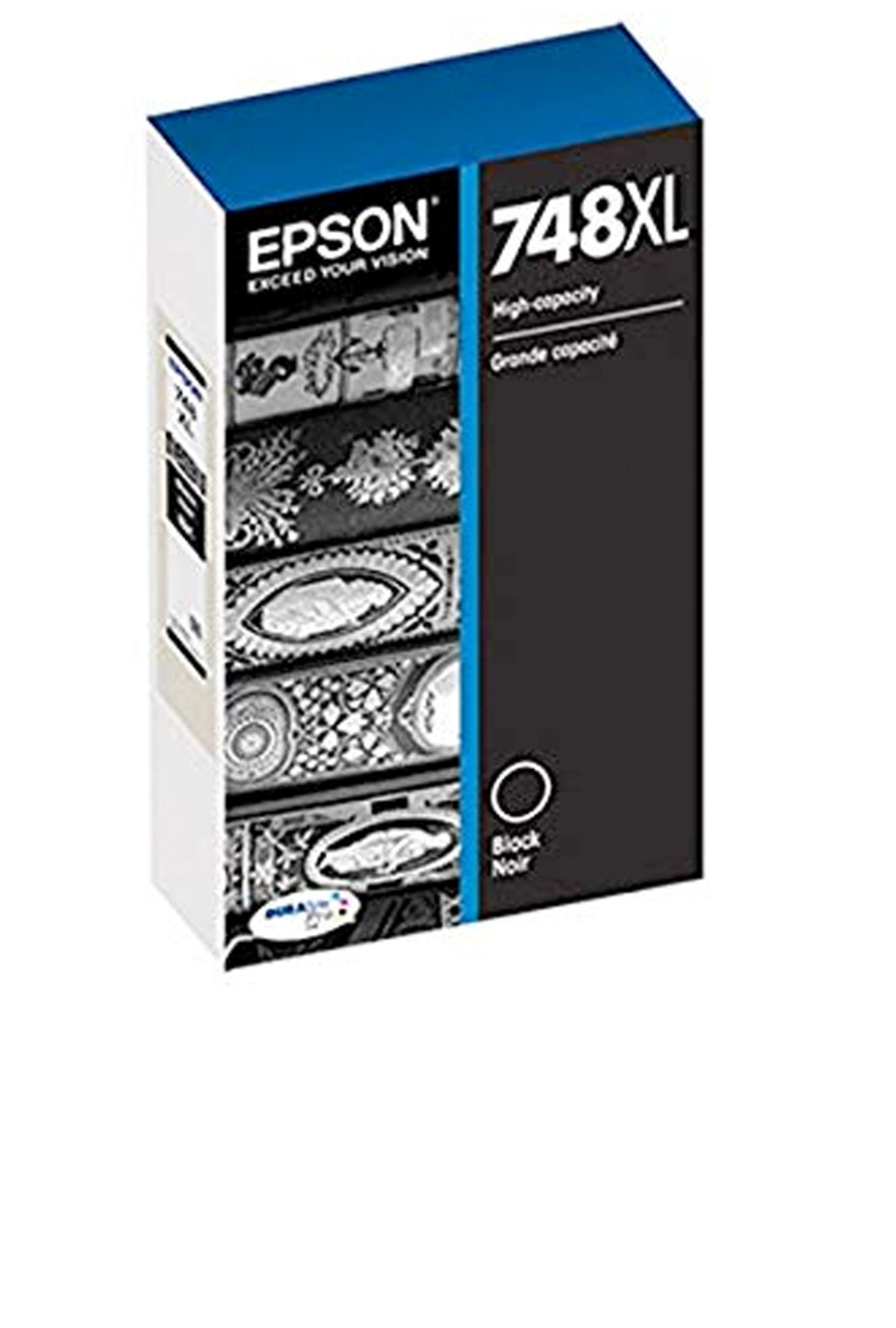 Epson 748, Black Ink Cartridge, High Capacity (T748XL120)