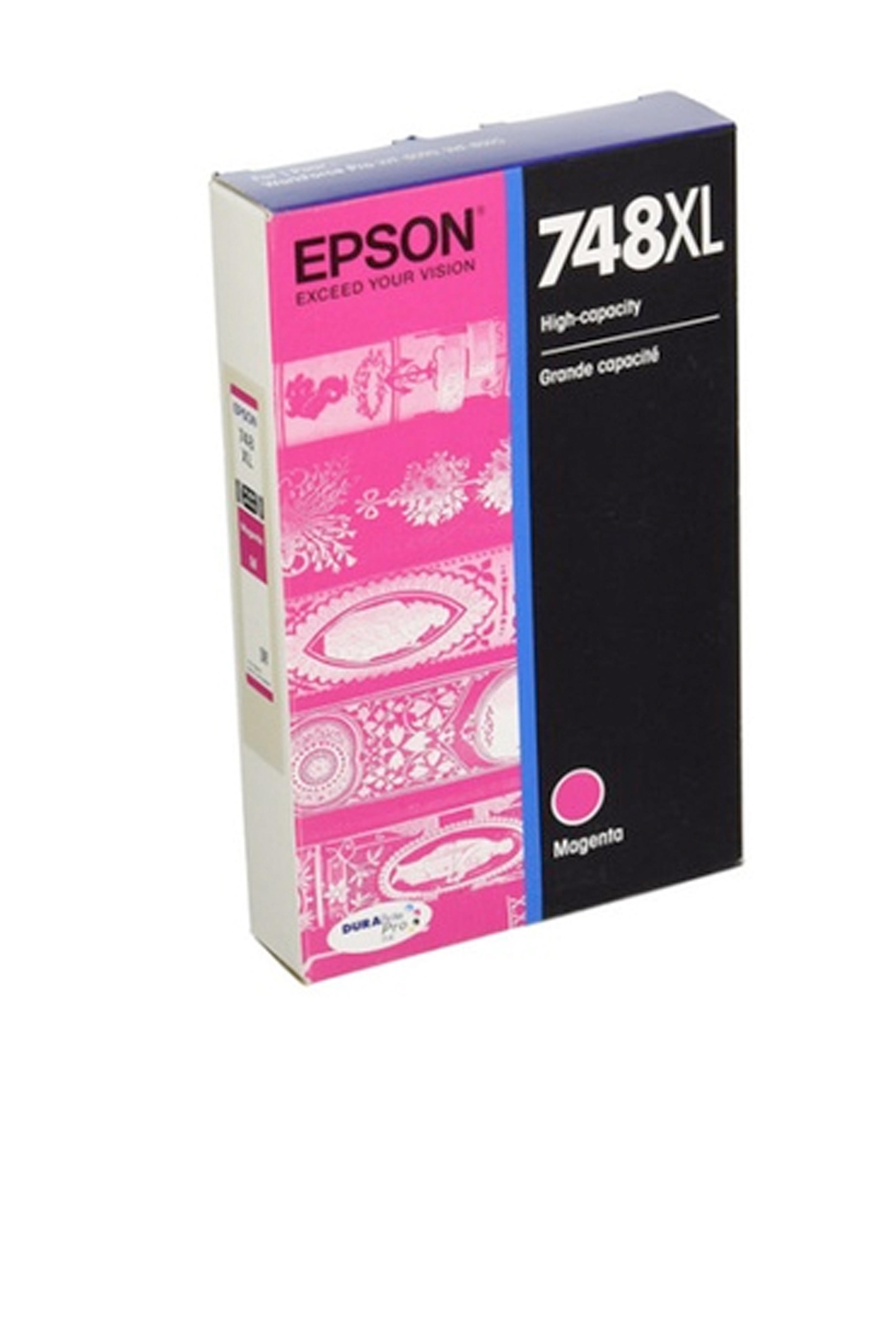 Epson 748, Magenta Ink Cartridge, High Capacity (T748XL320)