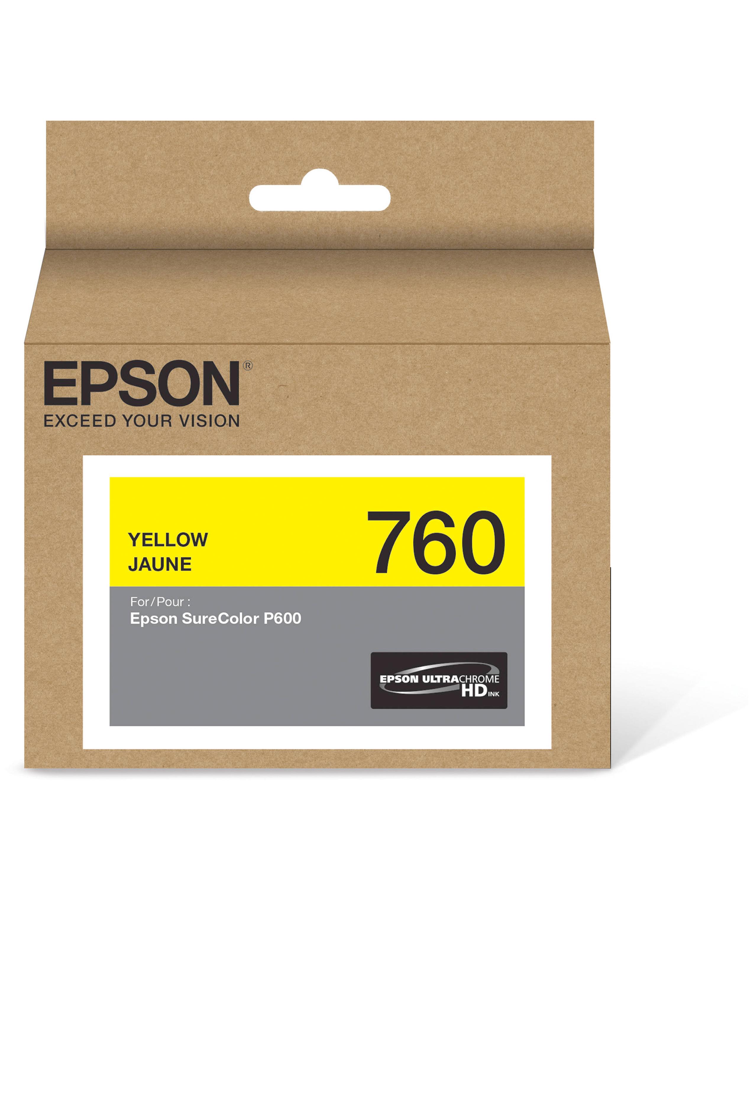Epson 760, Yellow Ink Cartridge (T760420)