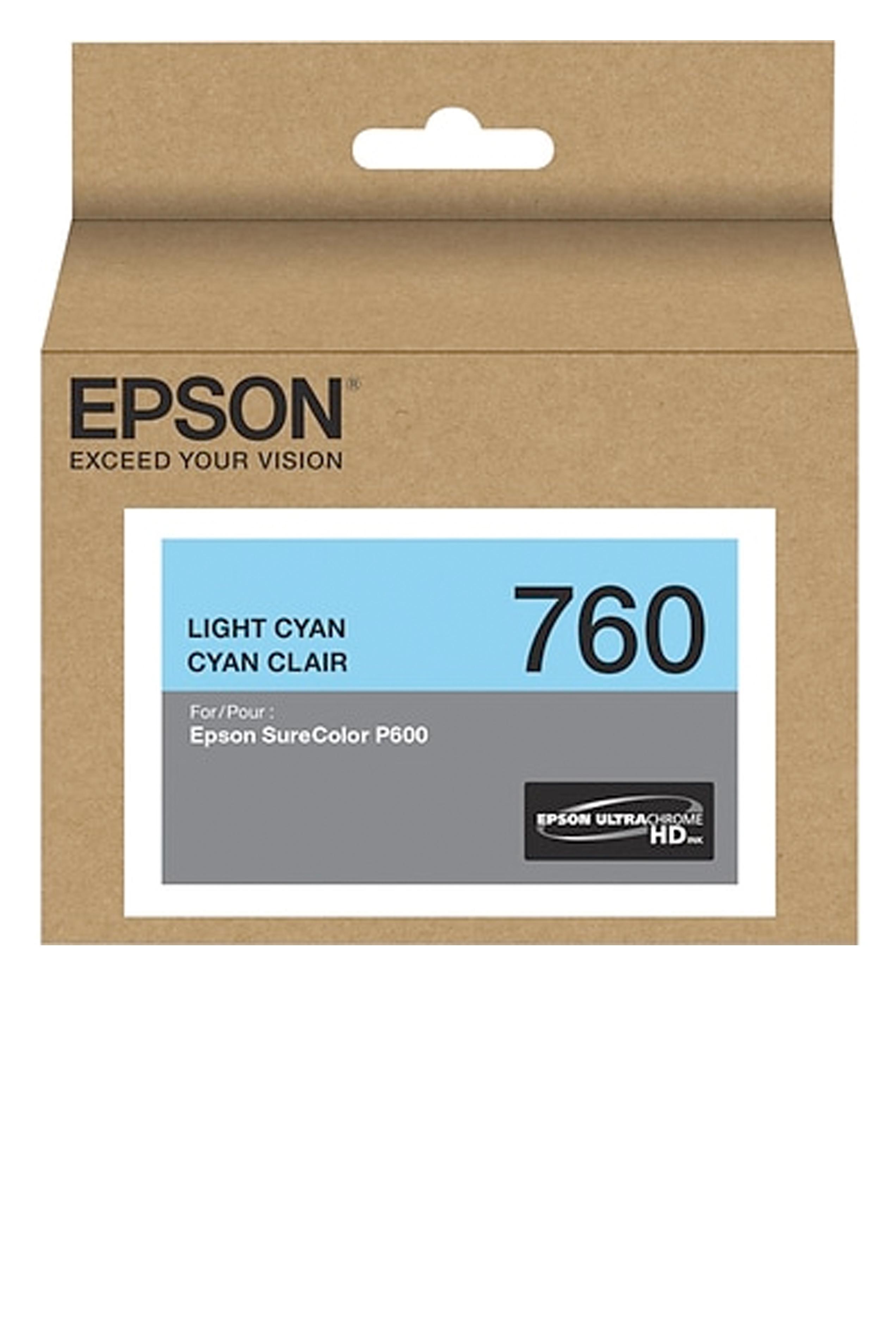 Epson 760, Light Cyan Ink Cartridge (T760520)