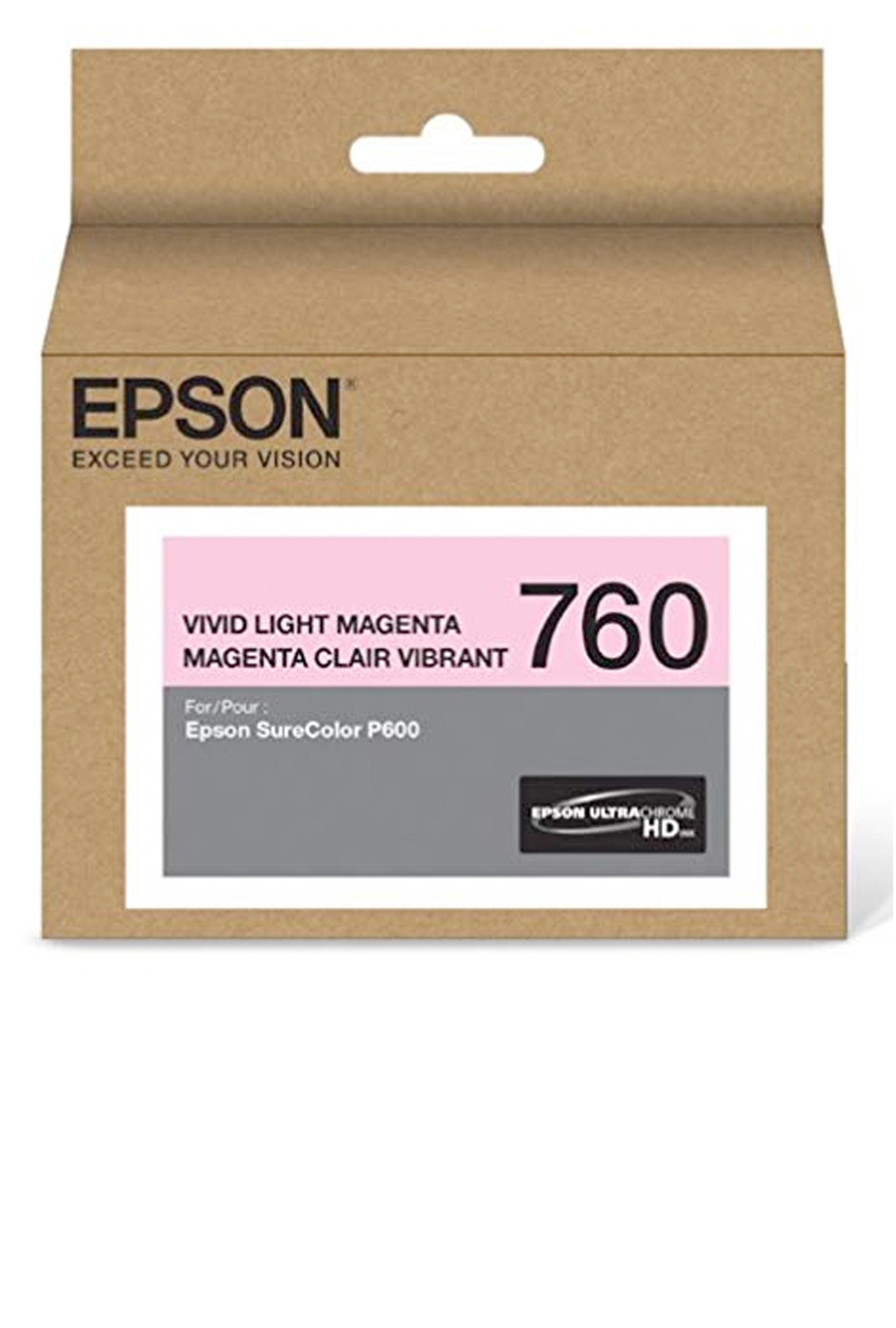 Epson 760, Vivid Light Magenta Ink Cartridge (T760620)