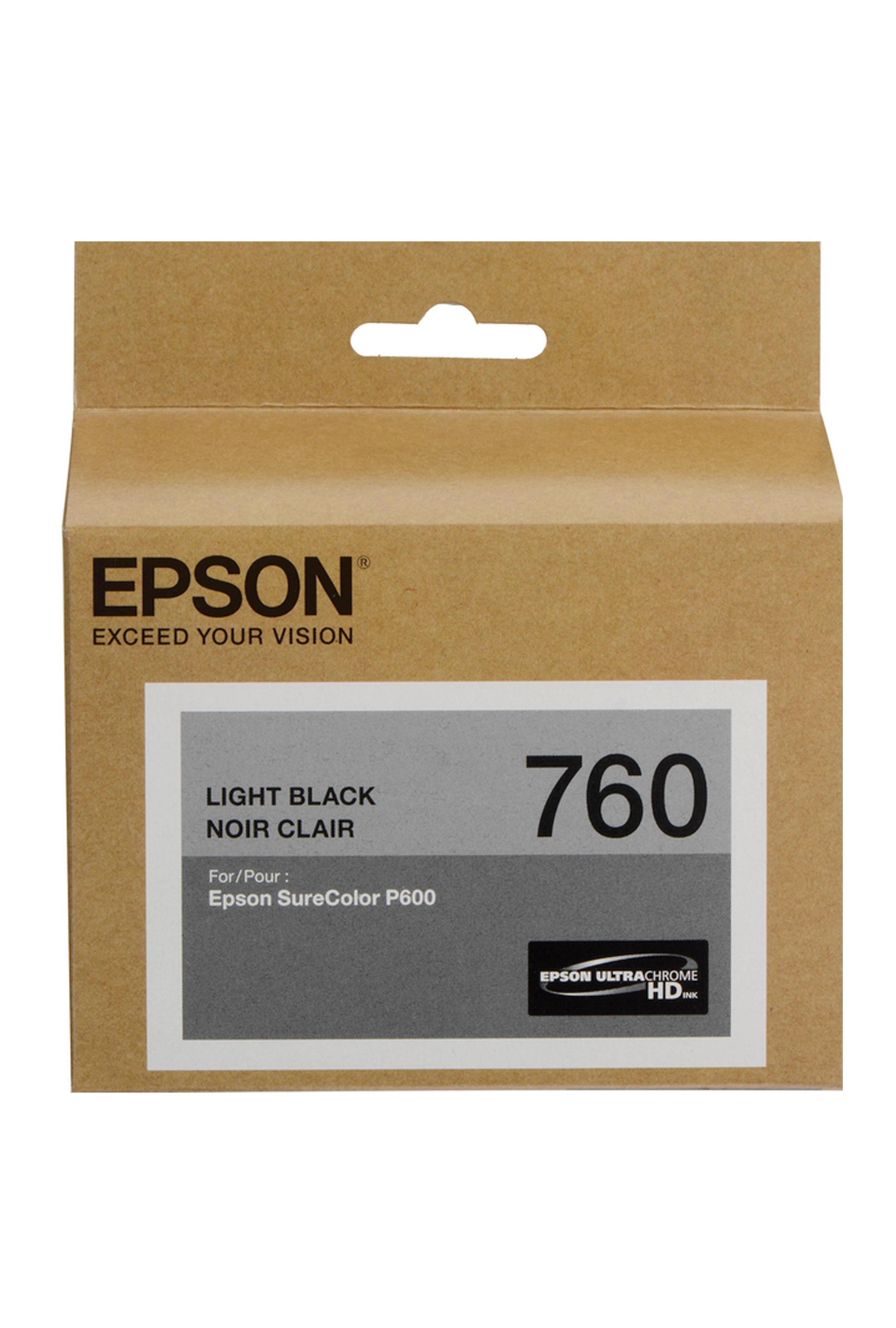 Epson 760, Light Black Ink Cartridge (T760720)