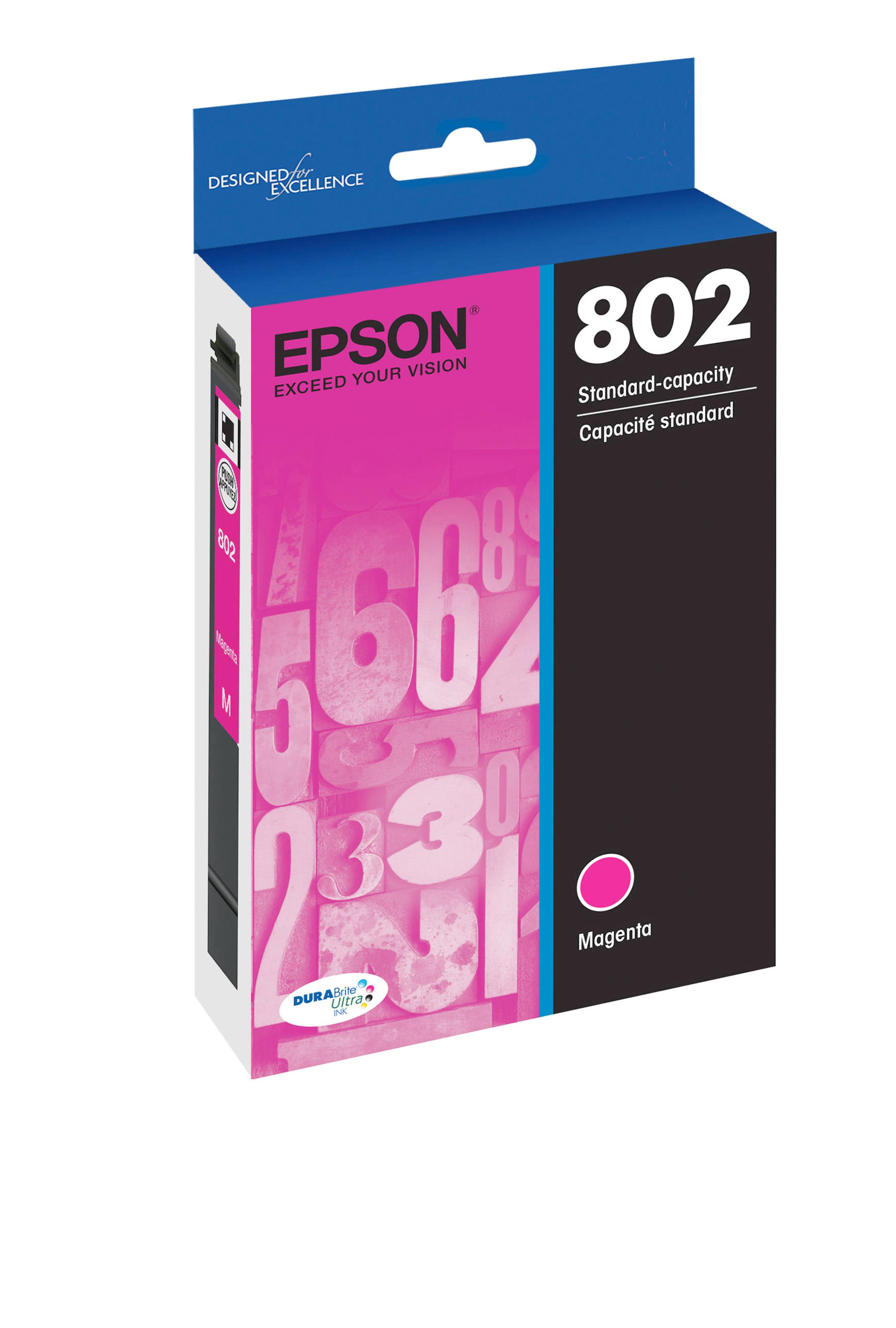 Epson T802, Magenta Ink Cartridge (T802320-S)
