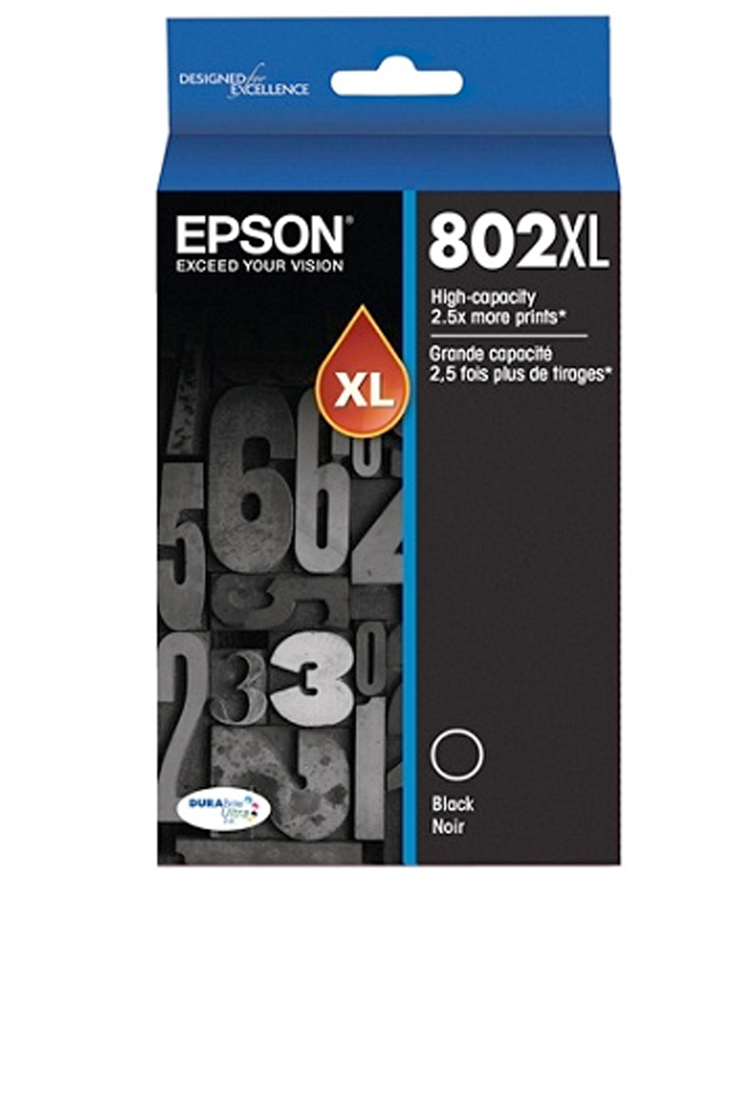 Epson T802XL, Black Ink Cartridge, High-capacity (T802XL120-S)