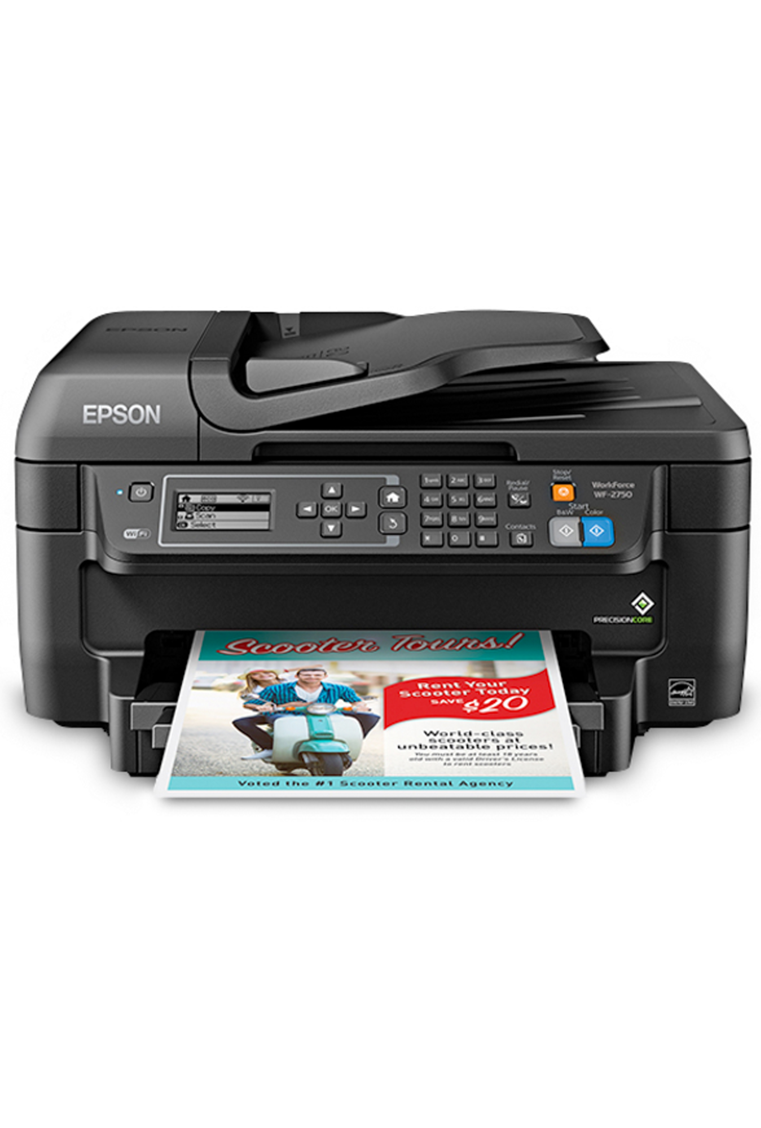 Epson WorkForce WF-2750 All-in-One Printer (13.7/7.3ppm)