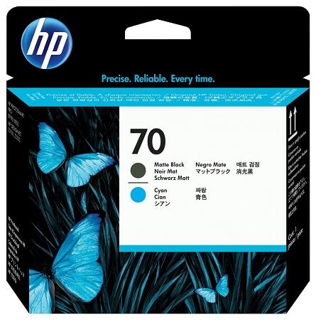 HP 70 (C9404A) Matte Black/Cyan...