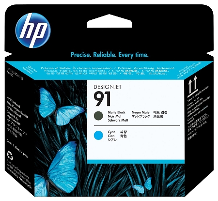 HP 91 (C9460A) Matte Black/Cyan...