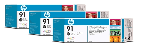 HP 91 (C9481A) 3-Pack Photo...