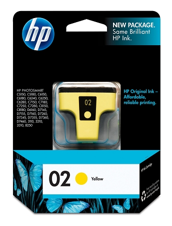 HP 02 (C8773WN) Yellow Original...