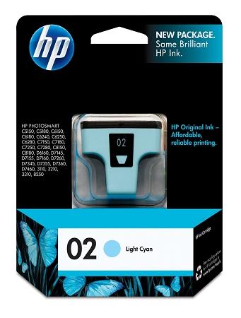 HP 02 (C8774WN) Light Cyan...