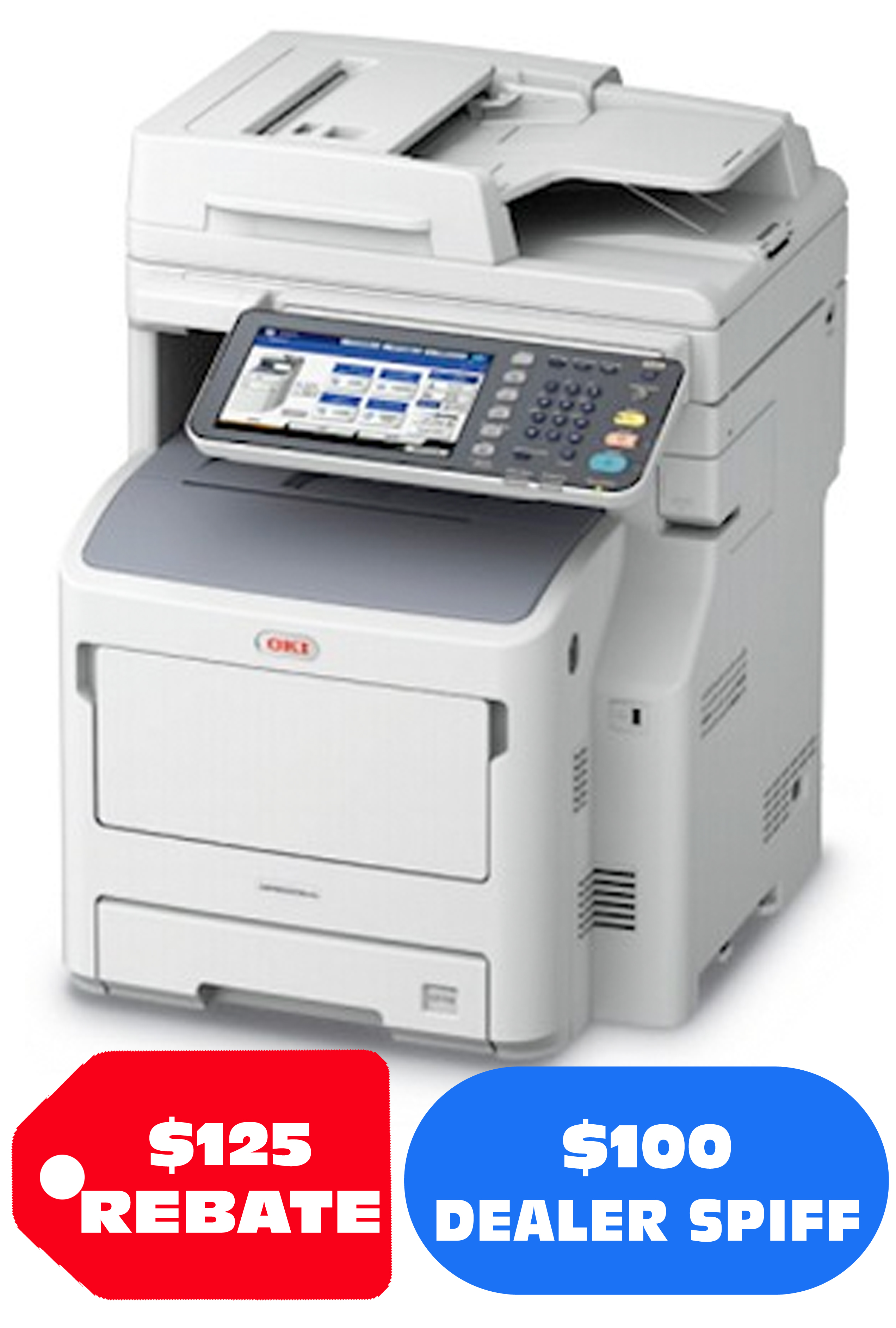 Okidata MPS5502mb+ Wireless Mono MFP (55 ppm)