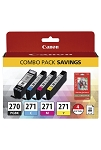 Canon PGI-270/CLI-271 PHOTO PAPER COMBO PACK (0373C005)