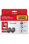 Canon PG-40 / CL-41 with Photo Paper 50 Sheets (0615B009)