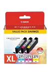 Canon CLI-271XL 3 Value Pack (0337C005)