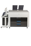 KIP SYS890K 4 Roll Color Production System with top stacking, 2300 CCD Scanner & scanner stand