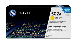HP 502A (Q6472AG) Yellow Original LaserJet Toner Cartridge for US Government (4000 Yield)  (Q6472AGOV)