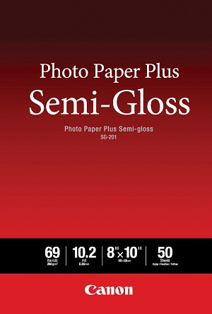 "Canon Photo Paper Plus Semi-Gloss 8"" x 10"" 50 Sheets (1686B062)"