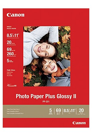 "Canon Photo Paper Plus Glossy II 8.5"" x 11"" 20 Sheets (2311B001)"