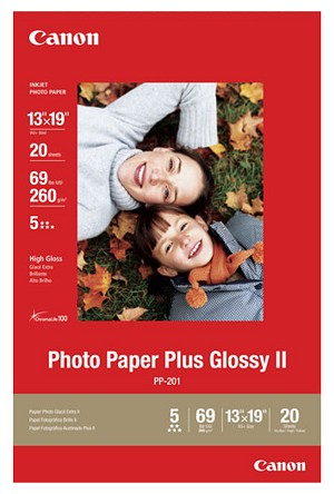 "Canon Photo Paper Plus Glossy II 13"" x 19"" 20 Sheets (2311B026)"