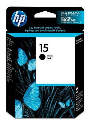 HP 15 (C6615DN) Black Original Ink Cartridge (500 Yield) (C6615DN)
