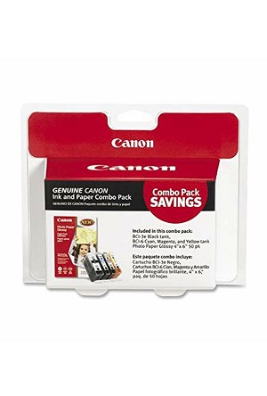 Canon BCI-3e/6 4 s with Photo Paper 50 Sheets (4479A292)