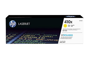 HP 410X (CF412X) High Yield Yellow Original LaserJet Toner Cartridge (5000 Yield) (CF412X)
