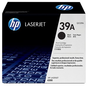 HP 39A (Q1339A) LaserJet 4300 Black Original LaserJet Toner Cartridge (18000 Yield)  (Q1339A)