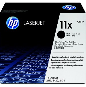 HP 11X (Q6511X) High Yield Black Original LaserJet Toner Cartridge (12000 Yield)  (Q6511X)