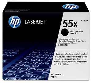 HP 55X (CE255X) High Yield Black Original LaserJet Toner Cartridge (12500 Yield)  (CE255X)
