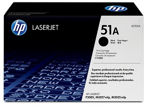 HP 51A (Q7551A) Black Original LaserJet Toner Cartridge (6500 Yield)  (Q7551A)