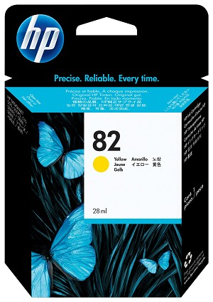 HP 82 (CH568A) Yellow Original Ink Cartridge (28 ml) (CH568A)