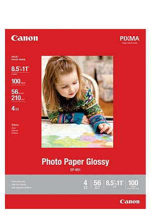 "Canon Photo Paper Glossy 8.5"" x 11"", 100 Sheets (8649B004)"