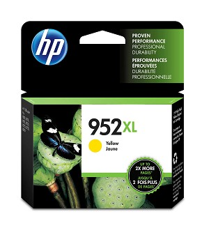 HP 952XL (L0S67AN) High Yield Yellow Original Ink Cartridge (1600 Yield) (L0S67AN)