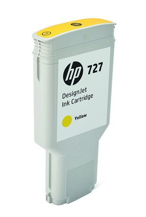 HP 727 (F9J78A) Yellow Original Ink Cartridge (300 ml) (F9J78A)