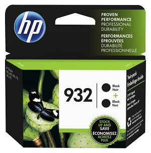 HP 932 (L0S27AN) 2-Pack Black Original Ink Cartridges (2 x 400 Yield) (L0S27AN)